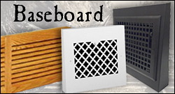 baseboard return air grilles