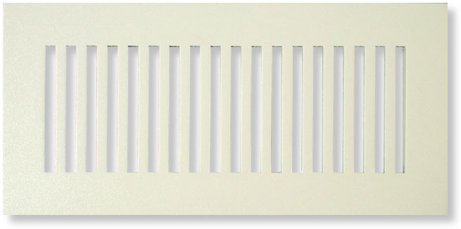 Capistrano style air grille in almond