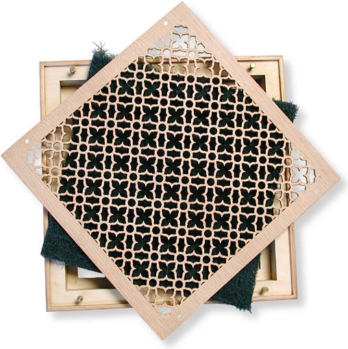 Geometric Return Air Grille With Filter And Frame