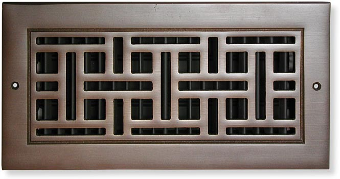 Monarch Return Air Grille In Cast Bronze Front View