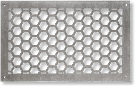 Hexagon Honeycomb Motif Return Air Grille In Brass Copper
