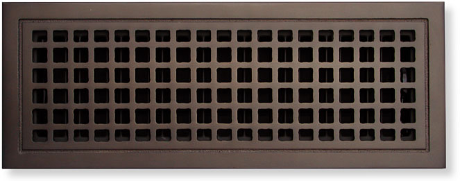 Signal Hill Cast Bronze Air Grille Square Motif