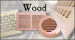 wood return air grilles